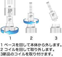 電子タバコの大事な部品コイルの交換方法