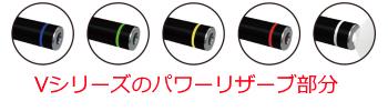 Vシリーズのパワーリザーブ部分のカラー表示説明です。